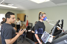 Health and Exercise Physiology students obtain hands-on experience in a variety of settings.