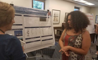 Summer fellows present their research during the annual symposium.