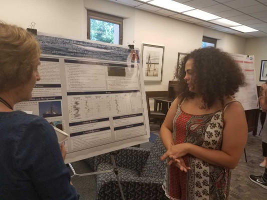 Ashley Nunoz Poster on Palaeoclimatological Analysis of Oceanic Sediment from Ocean Drilling. Mentor Leah Joseph