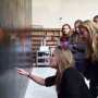Art and Art History Capstone students speak with art conservator, Kristin deGhetaldi, about her w...