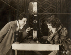 Dorothy Arzner and Clara Bow on the set of The Wild Party (1929)