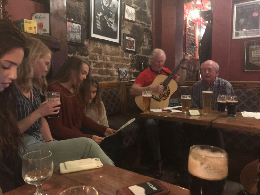 Students gathered at pub in Ireland